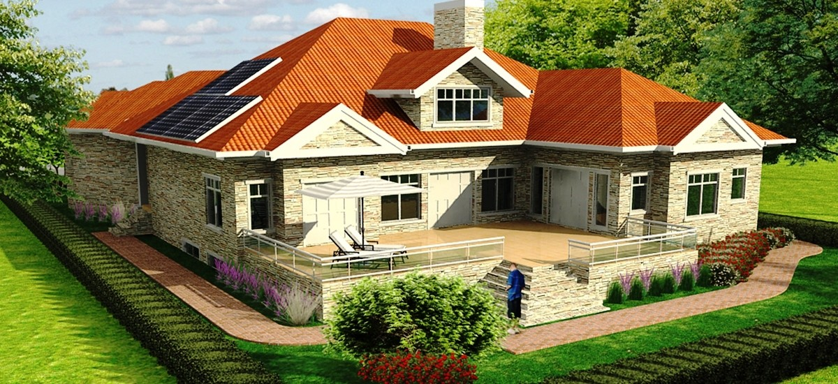 Advantages of solar energy in an energy efficient house