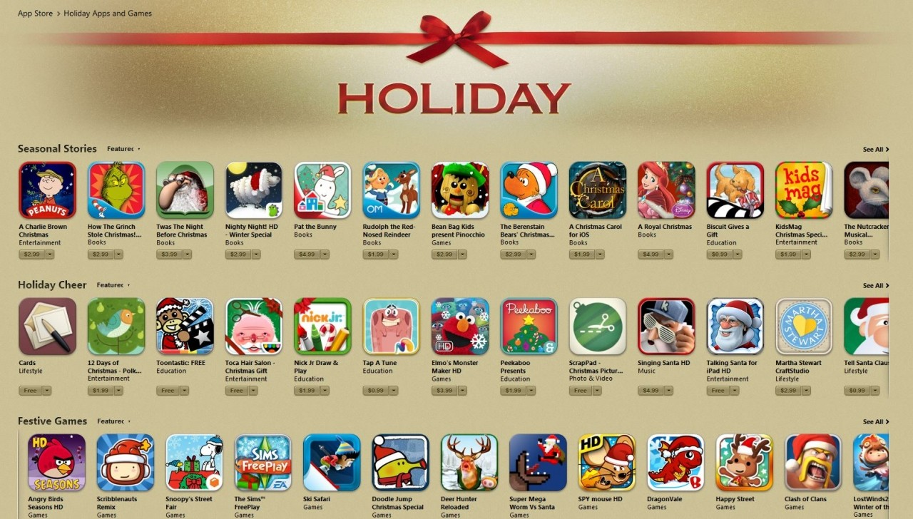 Top holiday apps