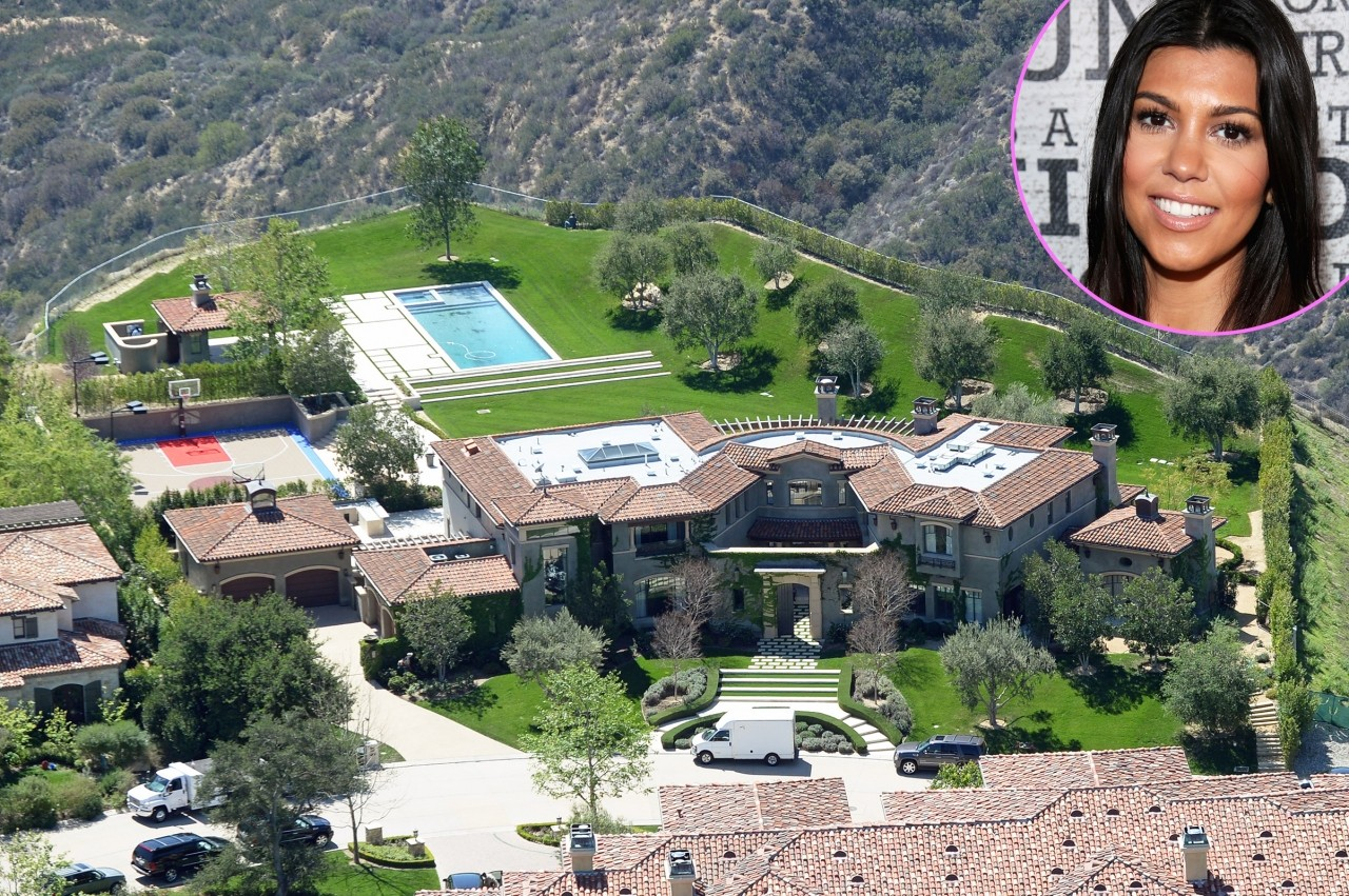 Kourtney Kardashian's home in Calabasas, California