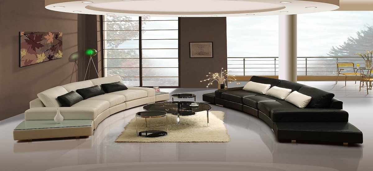 Decorating Using Leather Furniture and Glass Tables