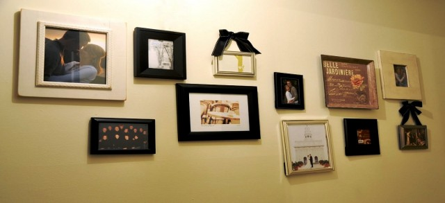 How to frame and hang photos