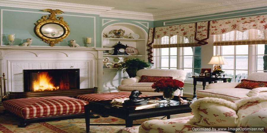 Antiqued living room